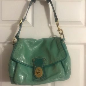 Cute Coach bag in an awesome shade of blue!